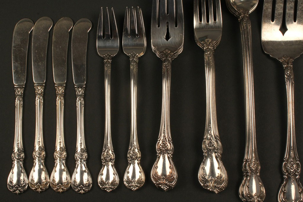 Lot 153: Towle Sterling Silver Flatware Set, 69 pieces