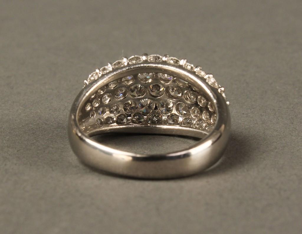 Lot 159: Platinum & Diamond Dome Ring