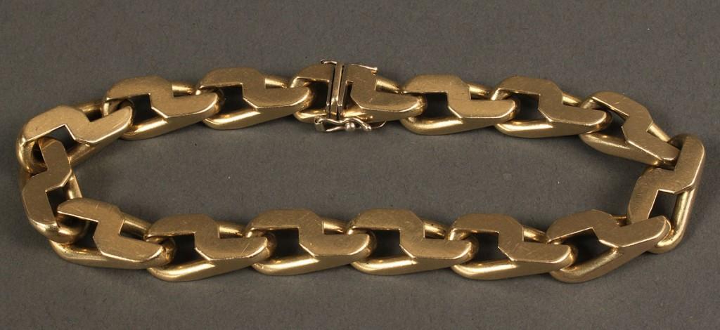"Lot 162: 18K Italian Link Bracelet, 67.7 grams, 8-1/2"" L"