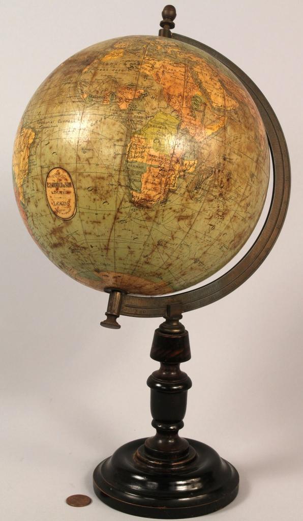 Lot 186: Terrestrial Table Globe, E.J. Arnold & Son