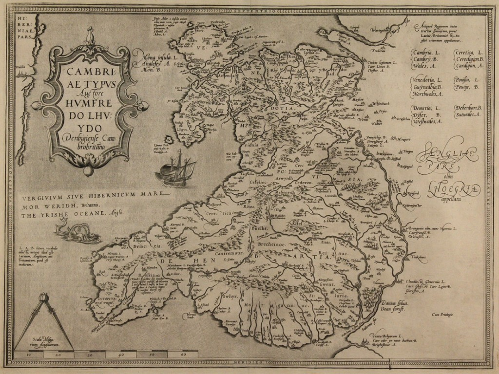 Lot 187: 1578 H. Lhuyd Map of Wales