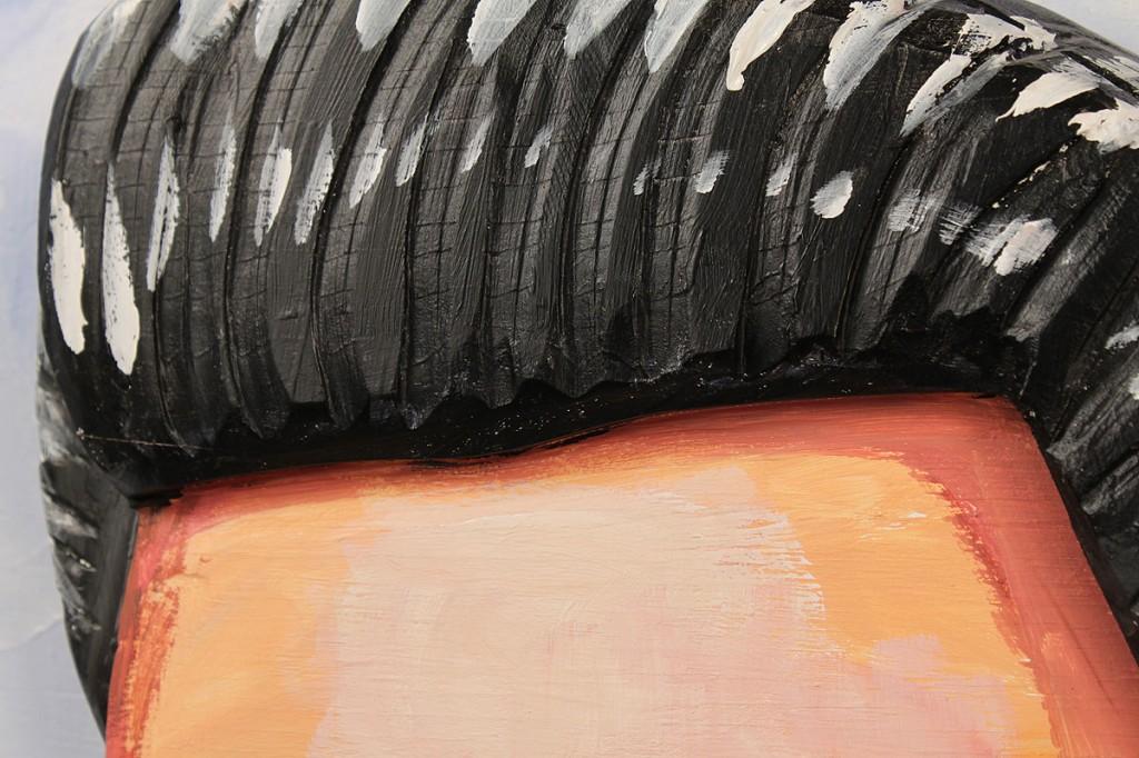 Lot 189: Red Grooms oil painting, Elvis