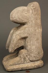 "Lot 190: William Edmondson Limestone ""Varmint"" Sculpture"