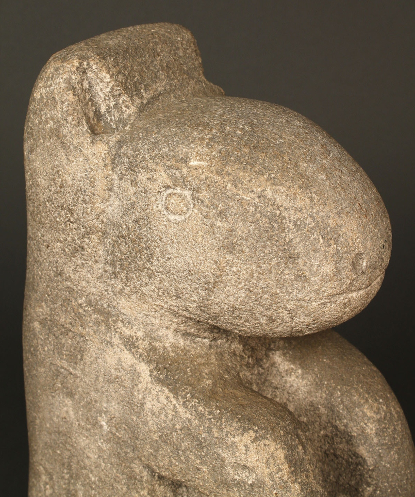 "Lot 190: William Edmondson Limestone ""Varmint"" Sculpture"