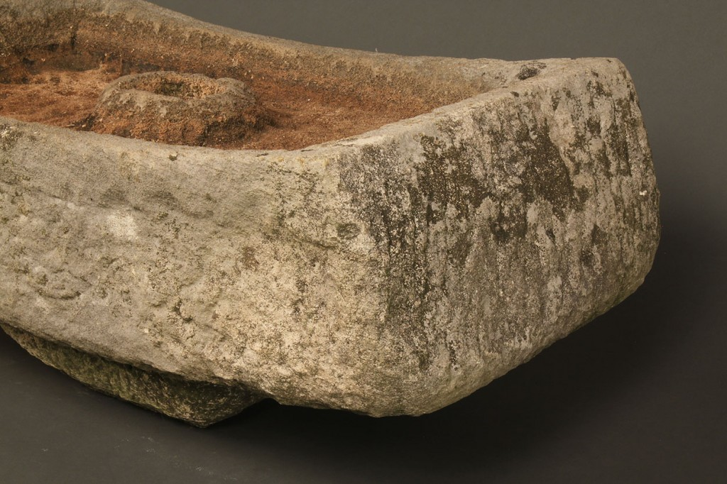 Lot 191: William Edmondson Limestone Bird Bath Sculpture