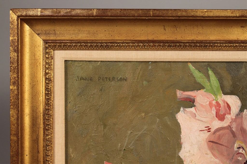 Lot 192: Jane Peterson oil on canvas, Gladiolus