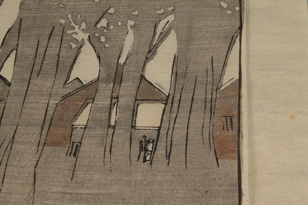 "Lot 199: Bror Nordfeldt woodcut, ""Village Green at Twilight"