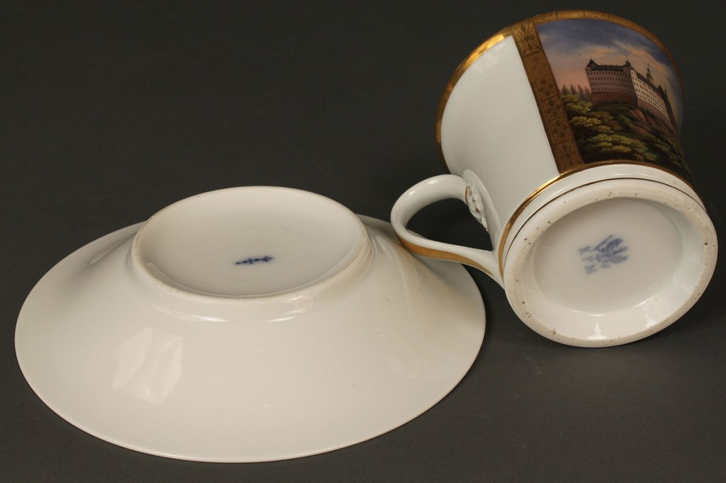 Lot 211: KPM Porcelain scenic Cup and Saucer