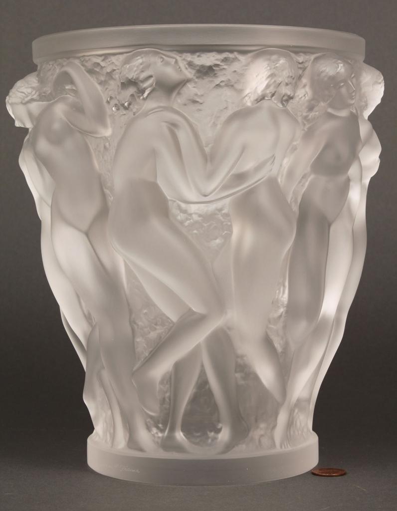 Lot 215: Lalique Bacchantes Art Glass Vase