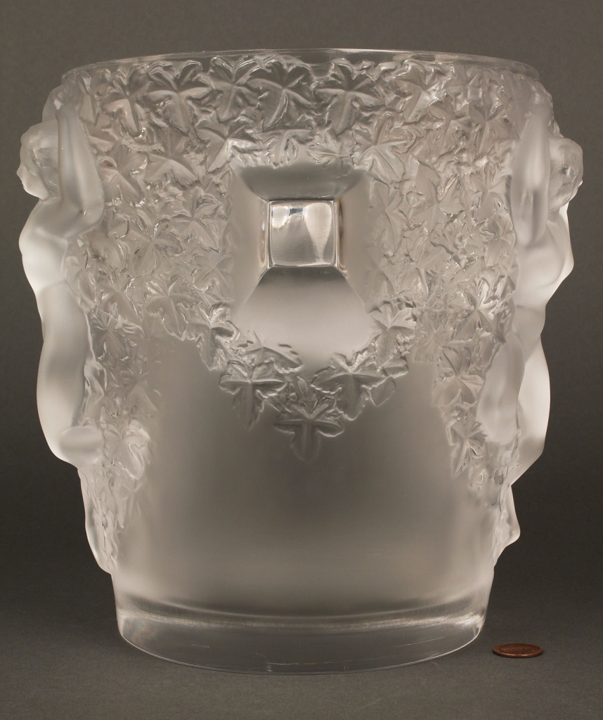 Lot 216: Lalique Ganymede Champagne Bucket