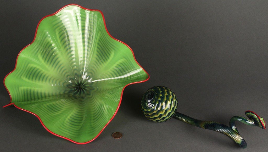 Lot 217: Dale Chihuly Art Glass Sculpture, Persian