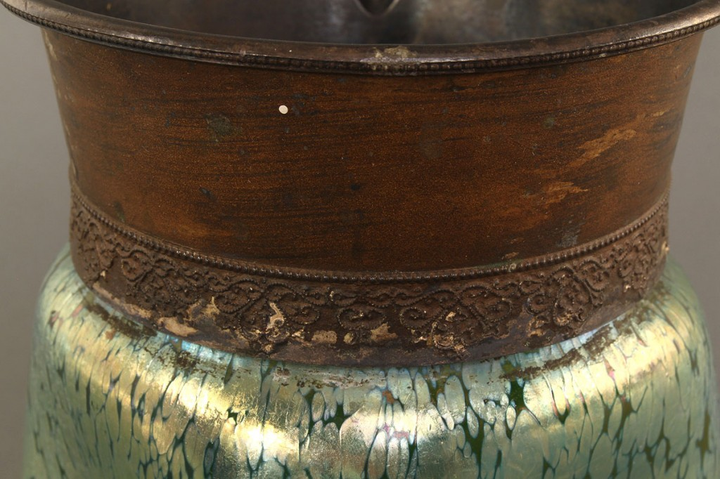 Lot 220: Art Nouveau Oil Spot Pitcher, attrib. Loetz