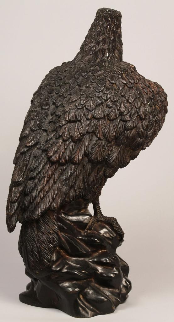 Lot 231: Bronze Eagle Sculpture