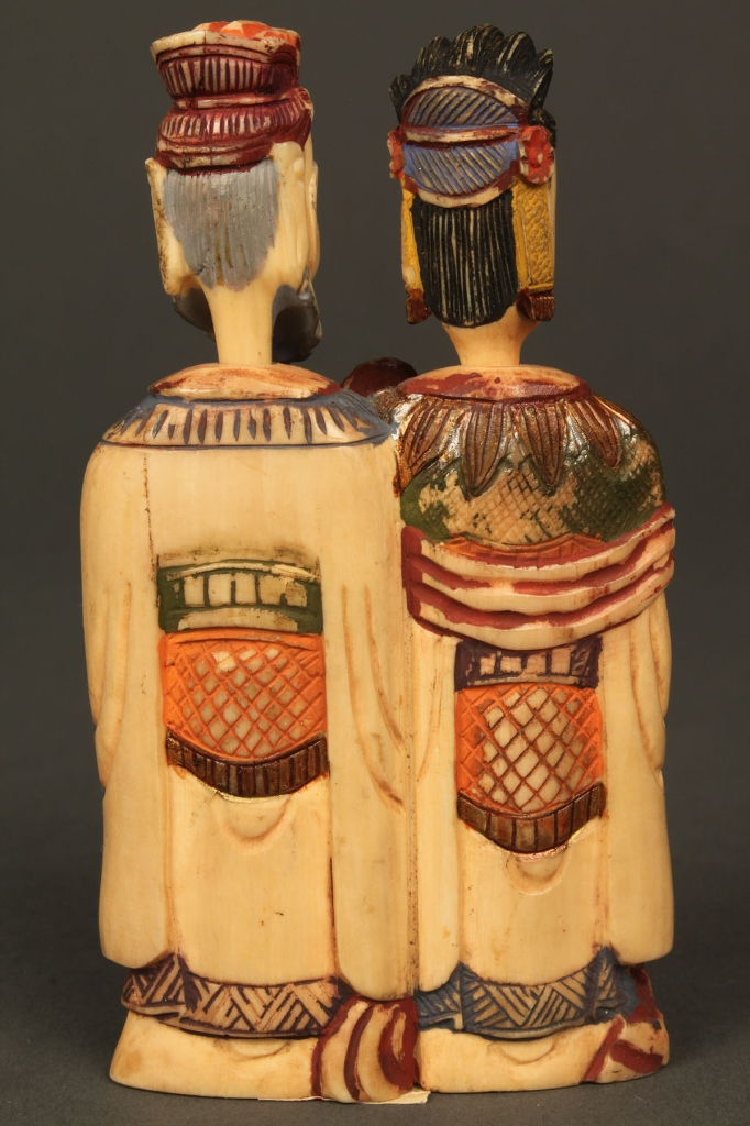 Lot 241: Two figural snuff bottles