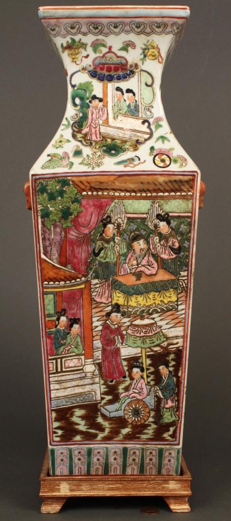 Lot 254: Large Chinese Famille Rose Vase