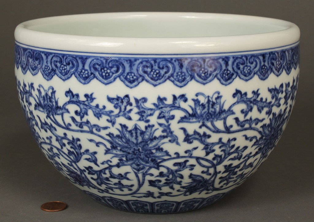 Lot 260: Chinese Blue & White Porcelain Planter