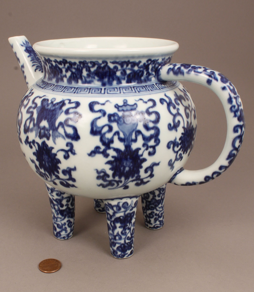 Lot 261: Chinese Blue and White Ewer, He Form