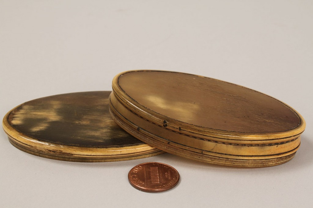 Lot 265: Tortoise Shell Page Turner & 4 Snuff Boxes