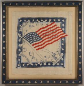 Lot 272: Harrison and Morton political bandana
