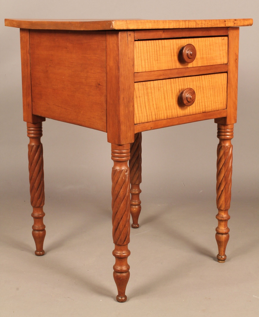 Lot 277: Southern Maple & Cherry 2 Drawer Stand, poss. KY