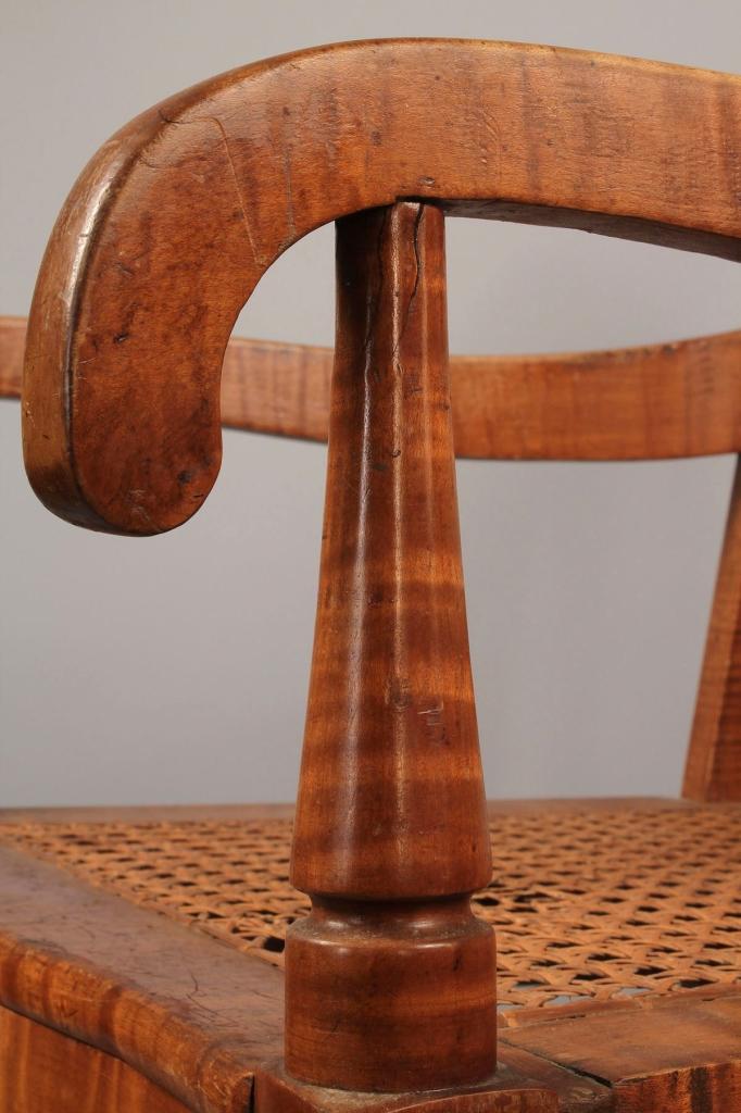 Lot 278: TN Tiger Maple Armchair