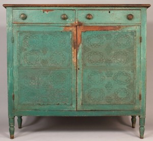 Lot 279: SW Virginia or East TN Painted Pie Safe