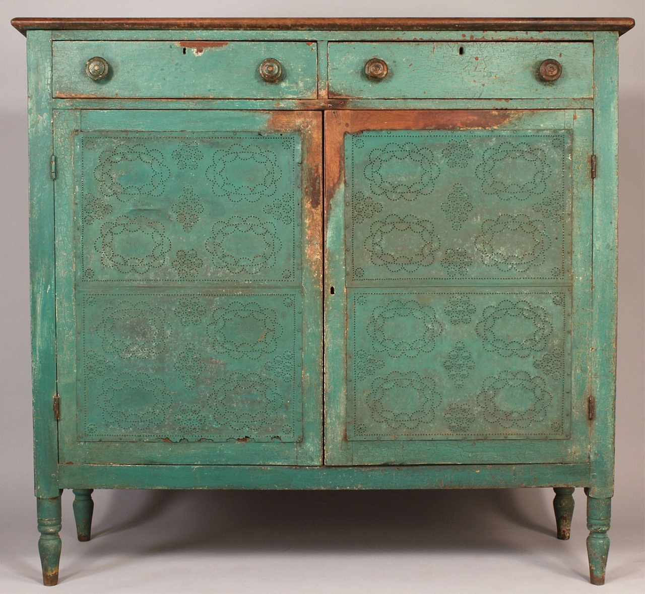 - Lot 279: SW Virginia Or East TN Painted Pie Safe