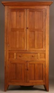 Lot 285: Southern blind door corner cupboard