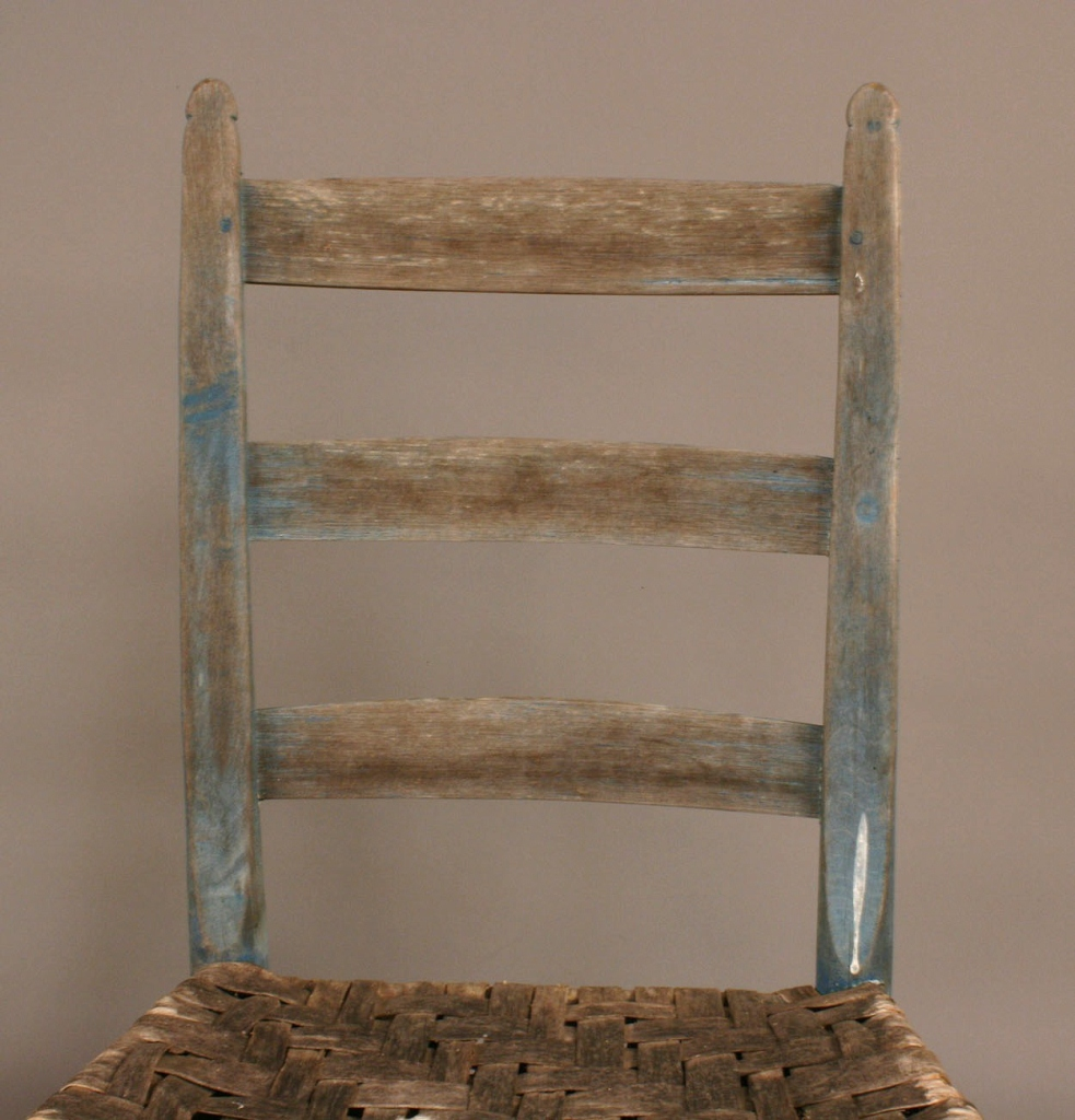 Lot 288: 3 Chairs: southern corner chair & pair ladderbacks