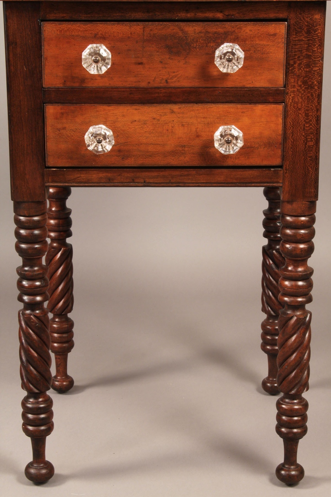 Lot 290: Marion, Ohio Two-Drawer Stand, Signed