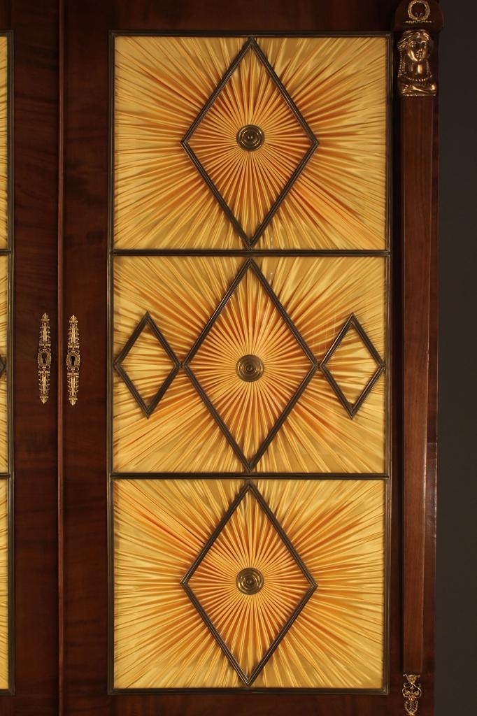 Lot 295: American Classical Secretary-Bookcase