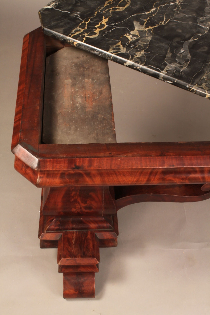 Lot 301: Late Classical Table w/ Figured Marble Top