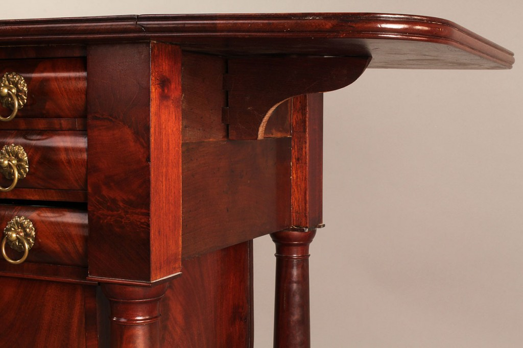 Lot 302: American Classical Work Table