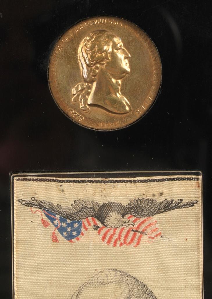 Lot 306: Washington peace medal & bookmark