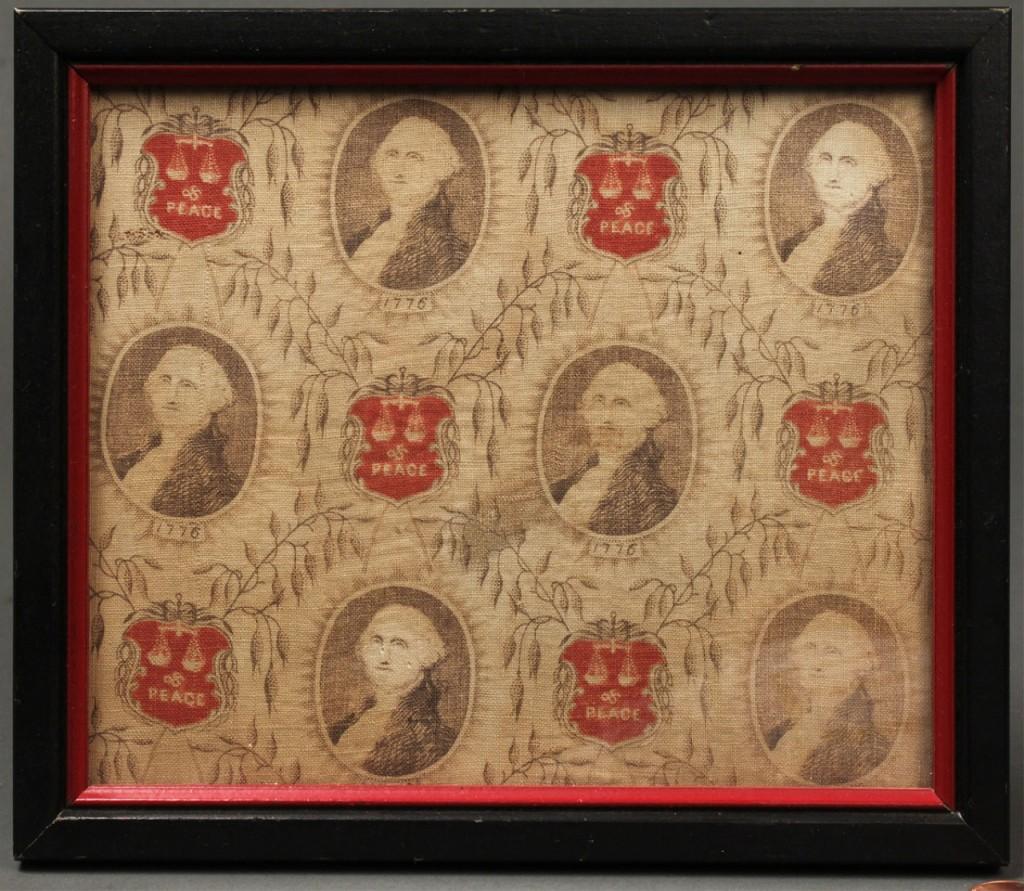 Lot 307: George Washington bandana fragment