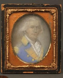 Lot 308: Portrait Miniature of George Washington