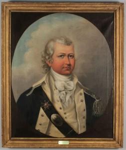 Lot 310: Portrait of Gentleman, Rev. War Era Uniform
