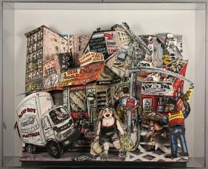 Lot 317: Red Grooms 3-D sculpture, Street Scene