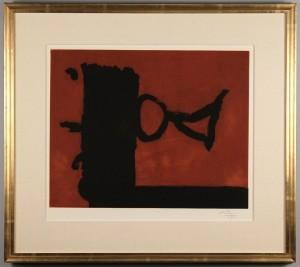 Lot 319: Robert Motherwell etching, The Razor's Edge