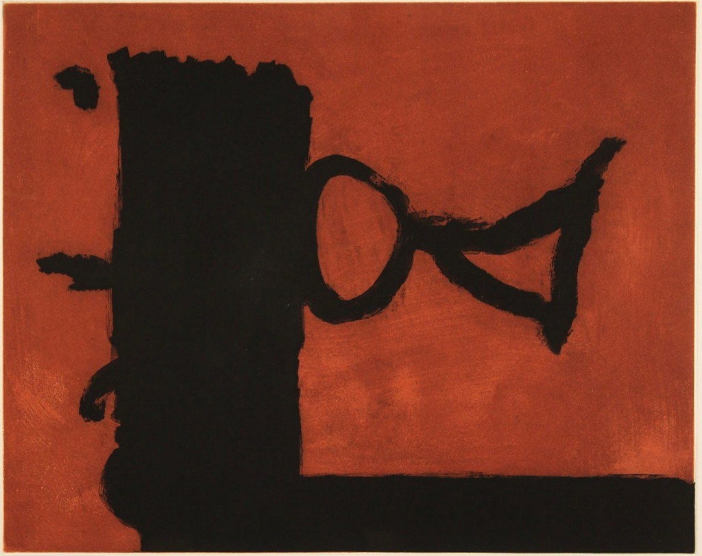 Lot 319: Robert Motherwell etching, The Razor's Edge