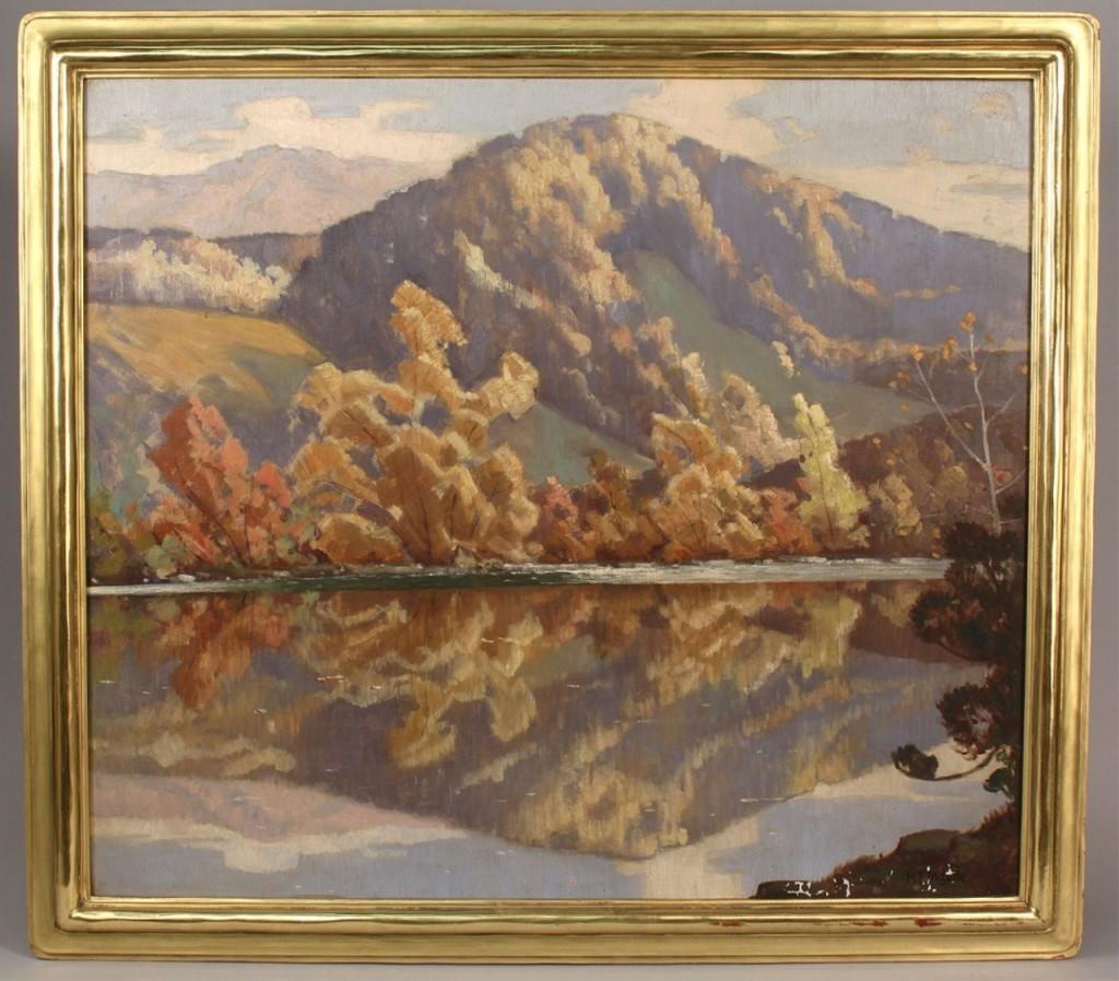 Lot 32: Rudolph Ingerle Mountain Landscape, oil on canvas