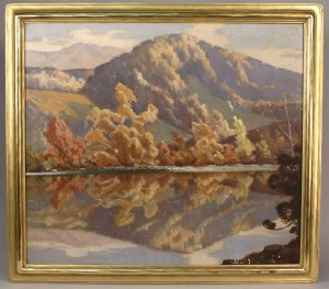 Lot 32: Rudolph Ingerle Mountain Landscape, oil on canvas