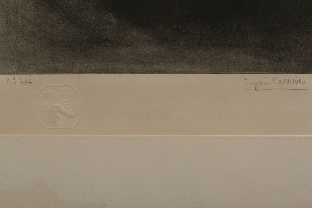 Lot 334: Eugene Carriere Signed Lithograph