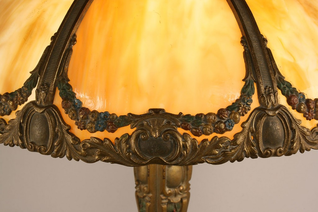 Lot 342: Bradley & Hubbard Table Lamp
