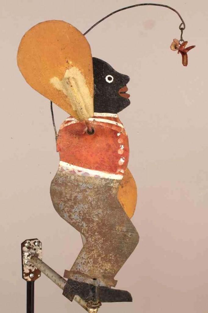 Lot 346: Folk Art Whirligig, African American figure