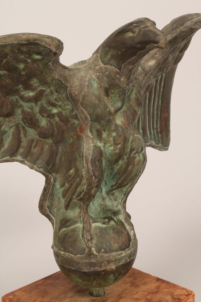 Lot 349: Copper Eagle Finial