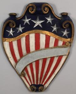 Lot 350: Paper mache American Shield