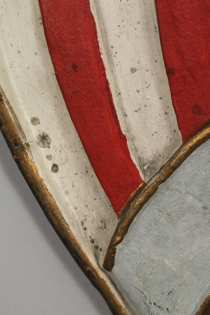 Lot 350: Paper mache American Shield