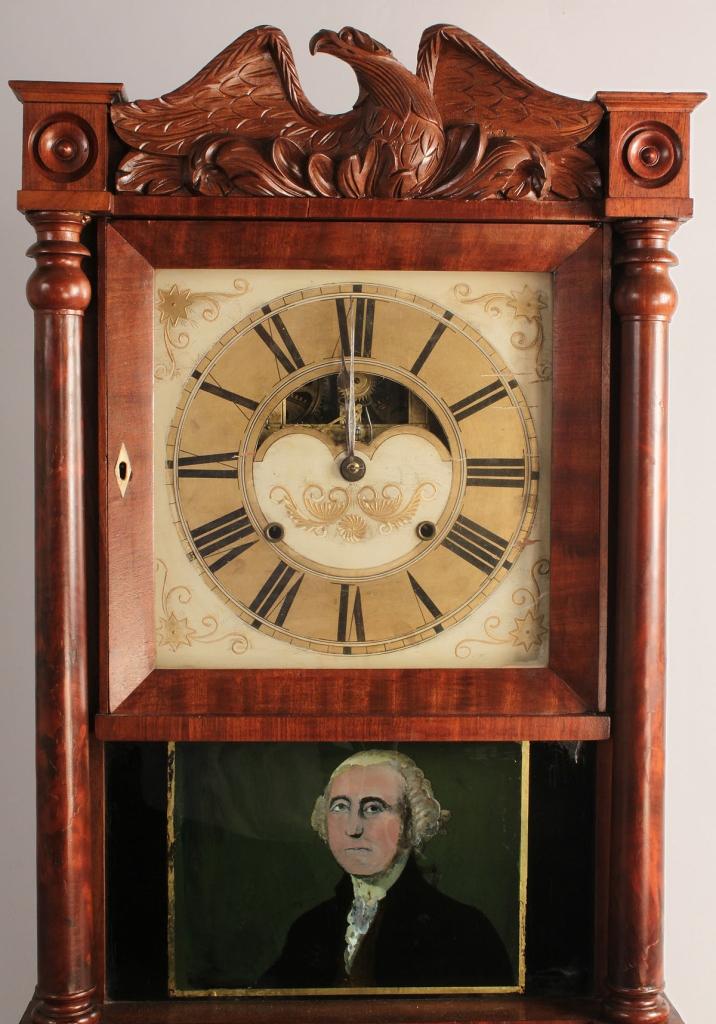 Lot 351: Classical period triple decker clock
