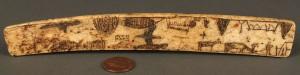 Lot 354: Folk art Scrimshaw Bone Busk